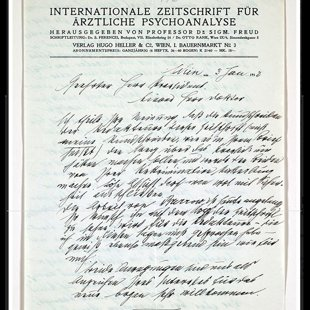Slavenā Z.Freida vēstule (fragm.) K.G.Jungam, kas iezīmē Freida un Junga attiecību beigas