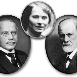 Carl Gustav Jung, Sabina Nikolayevna Spielrein, Sigmund Freud, 1912.