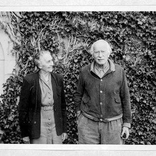 Emma Junga un K.G.Jungs. Foto īsi pirms Emmas nāves 1955.gadā.