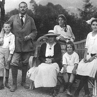 K.G.Junga ģimene, 1917.gads
